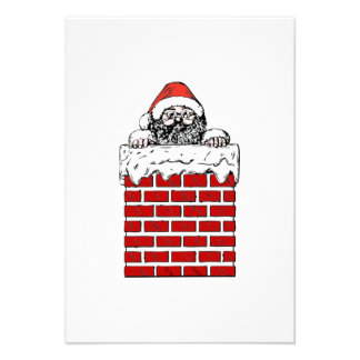 Christmas Santa Claus in Chimney Announcement