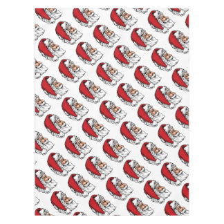 Christmas Santa Claus in Profile Tablecloth