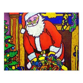 Christmas Santa Claus 11 Cm X 14 Cm Invitation Card