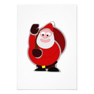 Christmas Santa Claus Custom Invitations