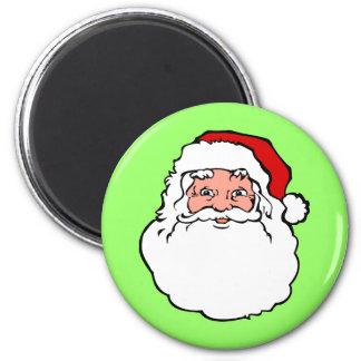 Christmas Santa Claus 6 Cm Round Magnet