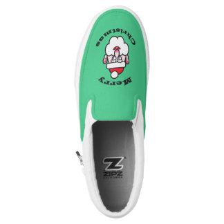 Christmas Santa Claus, Merry Christmas Slip On Shoes