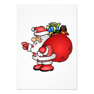 Christmas Santa Claus Personalized Invite