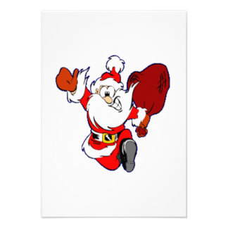 Christmas Santa Claus Personalized Invites