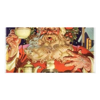 Christmas Santa Claus Photo Card Template