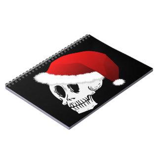 Christmas Santa Claus Skull Notebooks