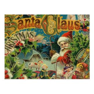 Christmas Santa Claus Vintage St Nick Postcard