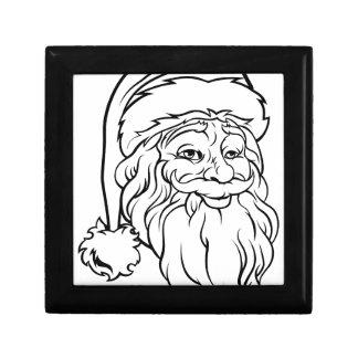 Christmas Santa Claus Vintage Style Small Square Gift Box