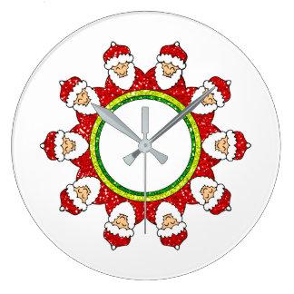 Christmas Santa Claus Wall Clock