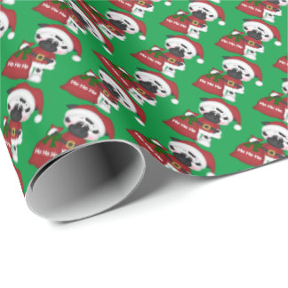 Christmas Santa Cow Holiday wrapping paper