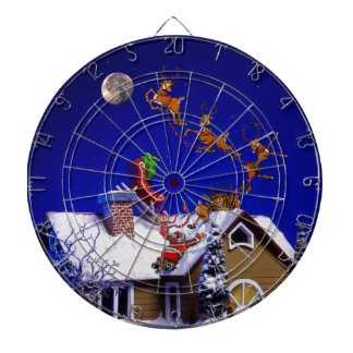 Christmas - Santa crashed on the rooftop Dartboard