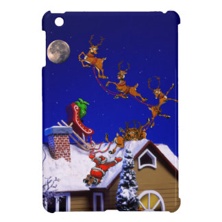 Christmas - Santa crashed on the rooftop iPad Mini Cover