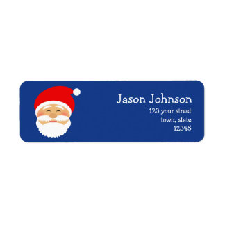 Christmas Santa Cute Cartoon Beautiful Cheerful Return Address Label