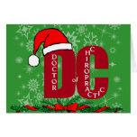 CHRISTMAS SANTA DC DOCTOR  CHIROPRACTIC  MEDICINE CARDS