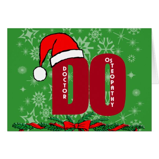 CHRISTMAS SANTA DO - DOCTOR OF OSTEOPATHY CARD