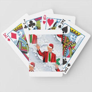 christmas santa donald trump bicycle playing cards