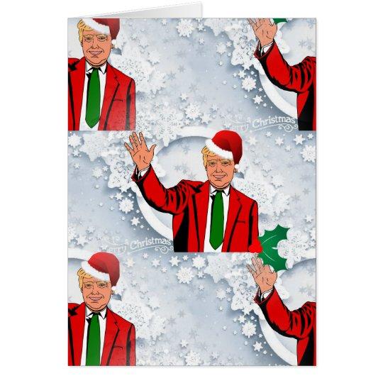 christmas santa donald trump card