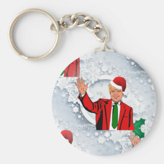 christmas santa donald trump key ring