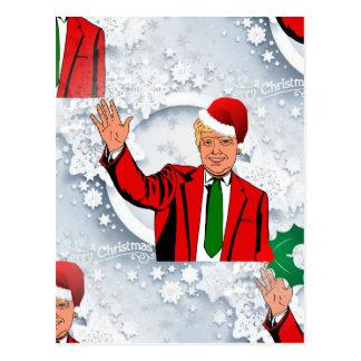 christmas santa donald trump postcard