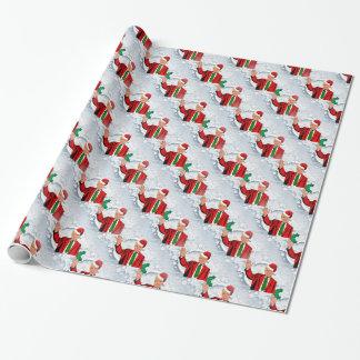 christmas santa donald trump wrapping paper