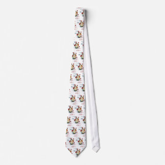 Christmas Santa Duck Pattern on Clasic White Tie