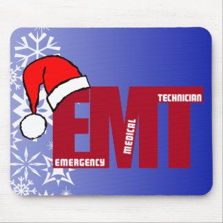 CHRISTMAS Santa EMT EMERGENCY MEDICAL TECHNICIAN Mouse Pad