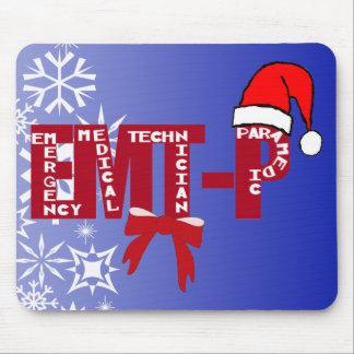 Christmas Santa EMT-P  Paramedic Mouse Pad