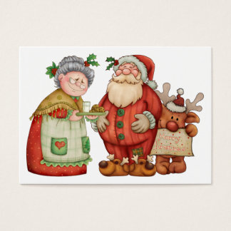 Christmas Santa Enclosure Card / Tag - SRF