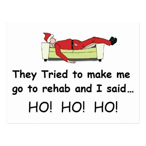 Christmas Santa Funny Post Card