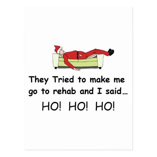 Christmas Santa Funny Postcards