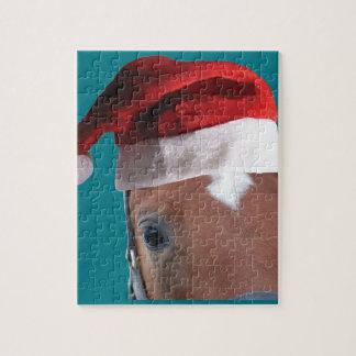 Christmas Santa Hat Horse Jigsaw Puzzle