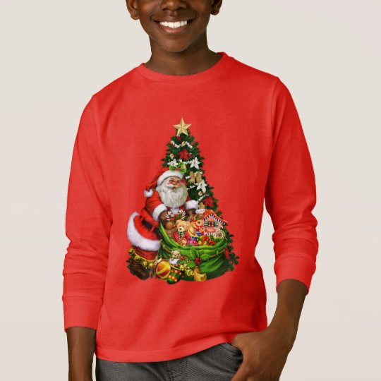 Christmas Santa Holiday kids t-shirt