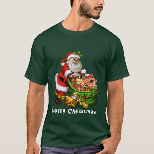 Christmas Santa Holiday mens t-shirt