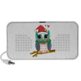 Christmas Santa Holiday Owl Mistletoe Cute iPhone Speaker
