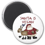 Christmas Santa Is Vegan Fridge Magnet