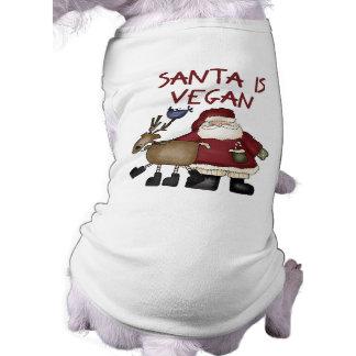 Christmas Santa Is Vegan Shirt