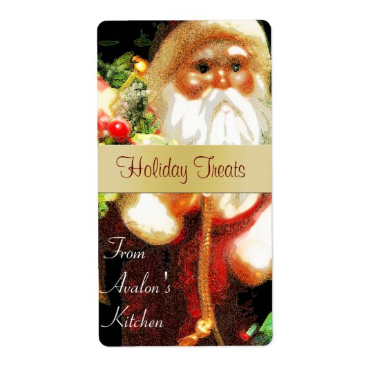 Christmas Santa Kitchen Treat Baking Label Shipping Label