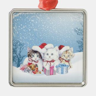 Christmas Santa kittems Ornament