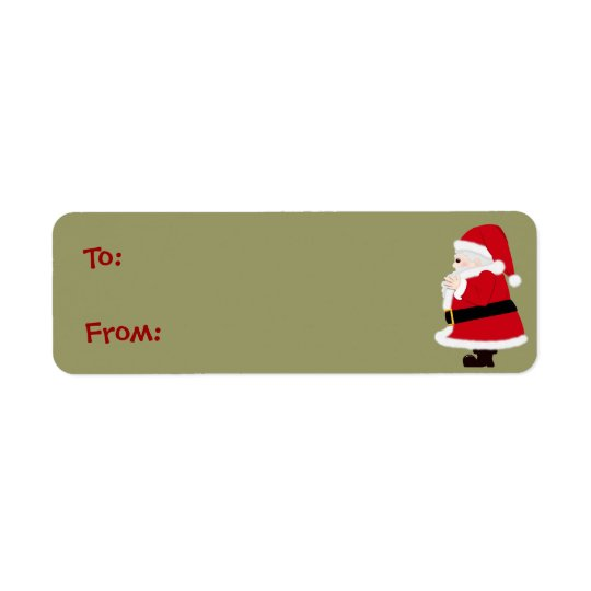 Christmas Santa Labels