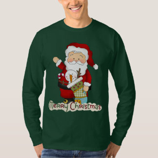 Christmas Santa mens Holiday t-shirt