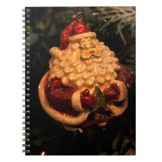 Christmas Santa note book photograph
