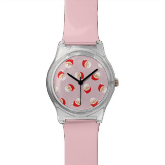 Christmas Santa Pink Trendy Lovely Simple Stylish Watch