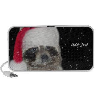 Christmas Santa Raccoon Bandit Portable Speakers