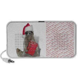 Christmas Santa Raccoon Bandit Travelling Speakers