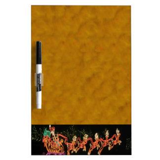Christmas Santa Sleigh  2016 Dry Erase Board
