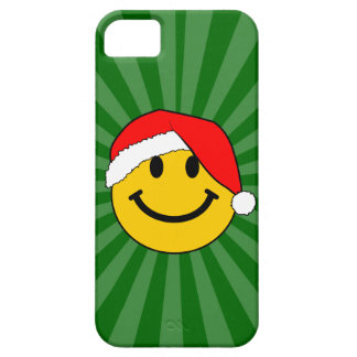 Christmas Santa Smiley Face iPhone 5 Covers
