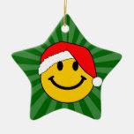 Christmas Santa Smiley Face Christmas Ornaments