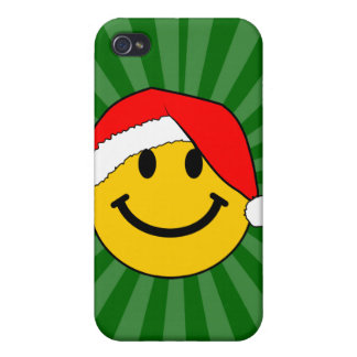 Christmas Santa Smiley Face Cover For iPhone 4