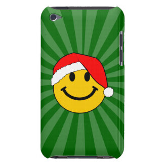 Christmas Santa Smiley Face iPod Touch Covers