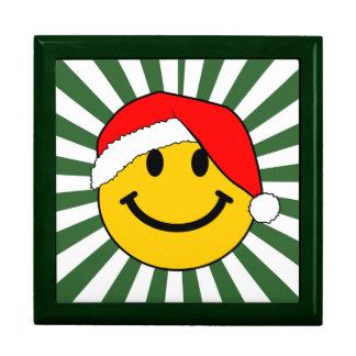 Christmas Santa Smiley Face Large Square Gift Box